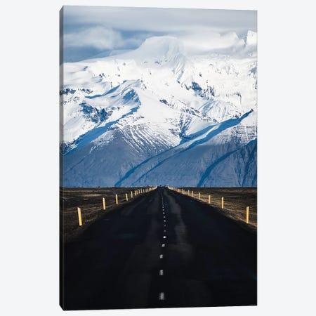 Icelandic Mountain Road Canvas Print #JVO56} by James Vodicka Canvas Art