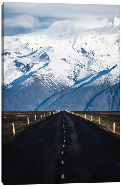 Icelandic Mountain Road Canvas Art Print