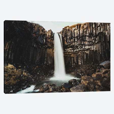 Icelandic Rock Waterfall Canvas Print #JVO58} by James Vodicka Canvas Art Print