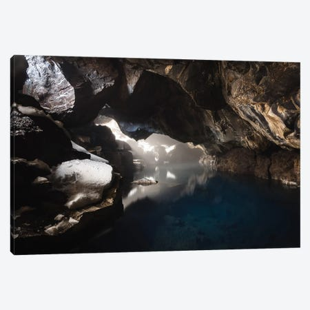 Icelandic Thermal Cave Reflection Canvas Print #JVO59} by James Vodicka Art Print