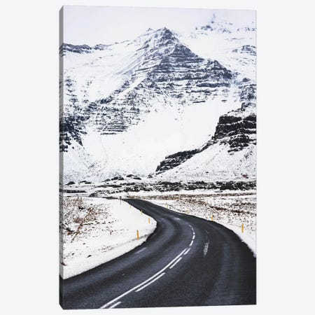 Icelandic Winter Road Canvas Print #JVO60} by James Vodicka Canvas Art