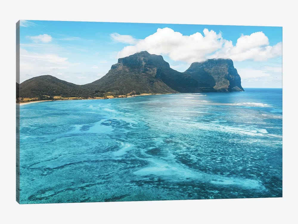 Island Lagoon Patterns by James Vodicka 1-piece Canvas Art
