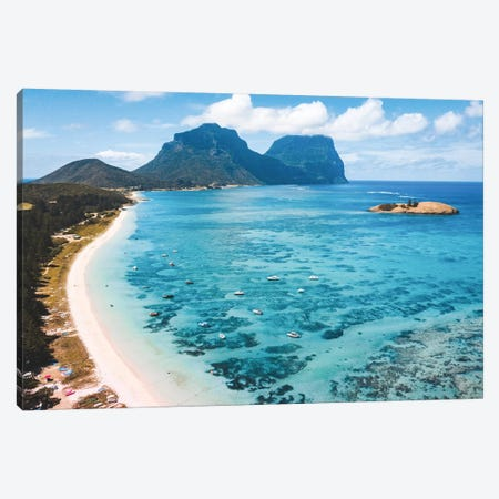 Island Lagoon with Beach Canvas Print #JVO70} by James Vodicka Canvas Print