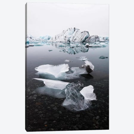 Jökulsárlón Glacier Ice Lagoon Canvas Print #JVO73} by James Vodicka Canvas Art Print