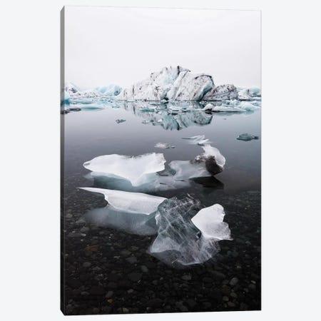 Jökulsárlón Glacier Ice Lagoon Canvas Print #JVO73} by James Vodicka Canvas Art Print