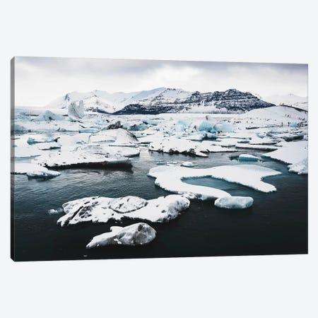 Jökulsárlón Glacier Ice Lagoon 2 Canvas Print #JVO74} by James Vodicka Canvas Art