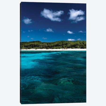 Australian Island Blue Water Canvas Print #JVO7} by James Vodicka Canvas Print