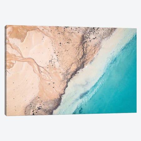 Kimberley Island Aerial Beach Patterns Canvas Print #JVO80} by James Vodicka Canvas Wall Art