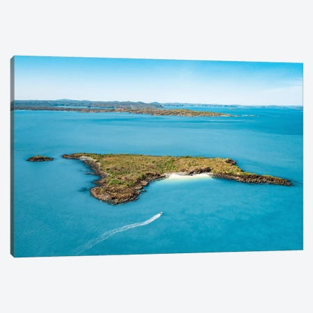 Little Boat & Small Island Canvas Print #JVO87} by James Vodicka Canvas Art Print