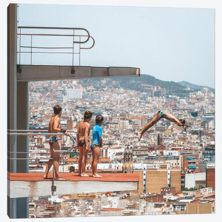 Barcelona Divers Canvas Print #JVO8} by James Vodicka Canvas Art