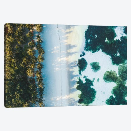 Maldives Beach Sunrise Aerial Canvas Print #JVO91} by James Vodicka Canvas Print