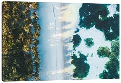 Maldives Beach Sunrise Aerial Canvas Art Print