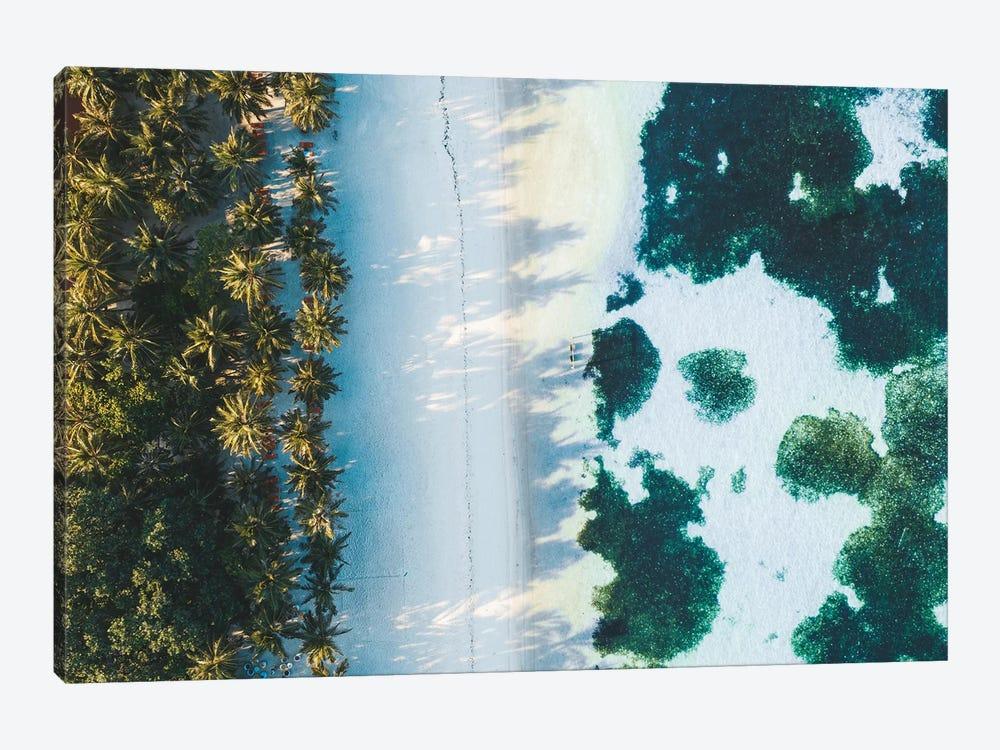Maldives Beach Sunrise Aerial by James Vodicka 1-piece Art Print