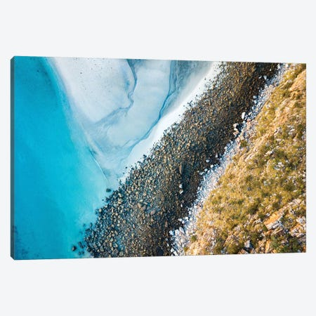 Beach Landscape Aerial Colours Canvas Print #JVO9} by James Vodicka Canvas Wall Art