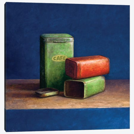 Tin Boxes II Canvas Print #JVR10} by Jos van Riswick Canvas Art
