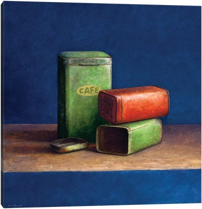 Tin Boxes II Canvas Art Print