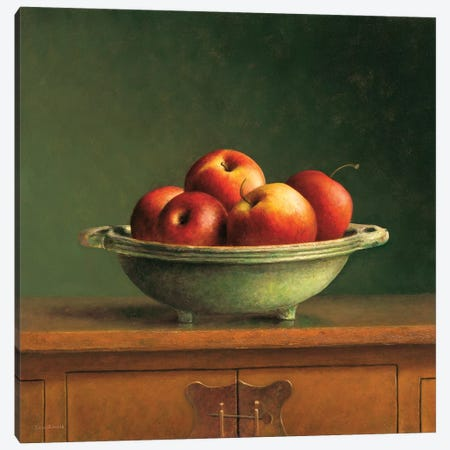 Apples Canvas Print #JVR1} by Jos van Riswick Canvas Artwork