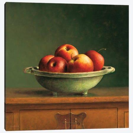 Apples Canvas Print #JVR1} by Jos van Riswick Canvas Artwork