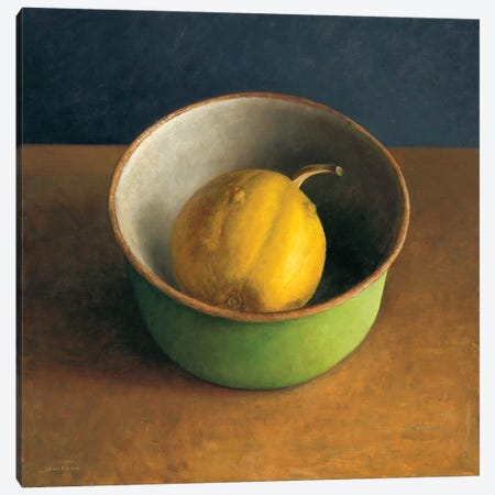Green Bowl I Canvas Print #JVR2} by Jos van Riswick Canvas Wall Art
