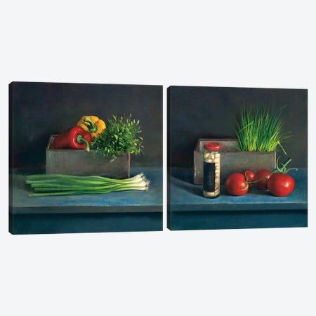 Still Life Diptych Canvas Print Set #JVR2HSET001} by Jos van Riswick Art Print