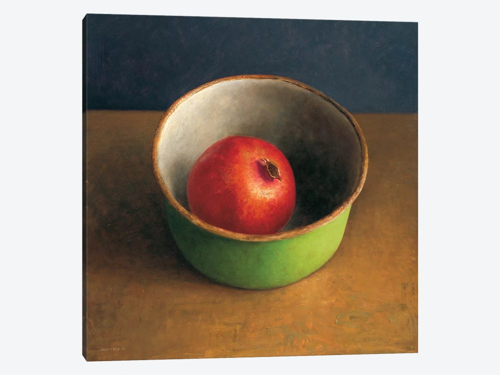 Green Bowl II by Jos van Riswick 1-piece Canvas Art