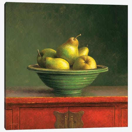 Pears Canvas Print #JVR4} by Jos van Riswick Canvas Art Print
