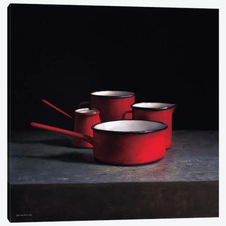 Pots And Pans I Canvas Print #JVR5} by Jos van Riswick Art Print