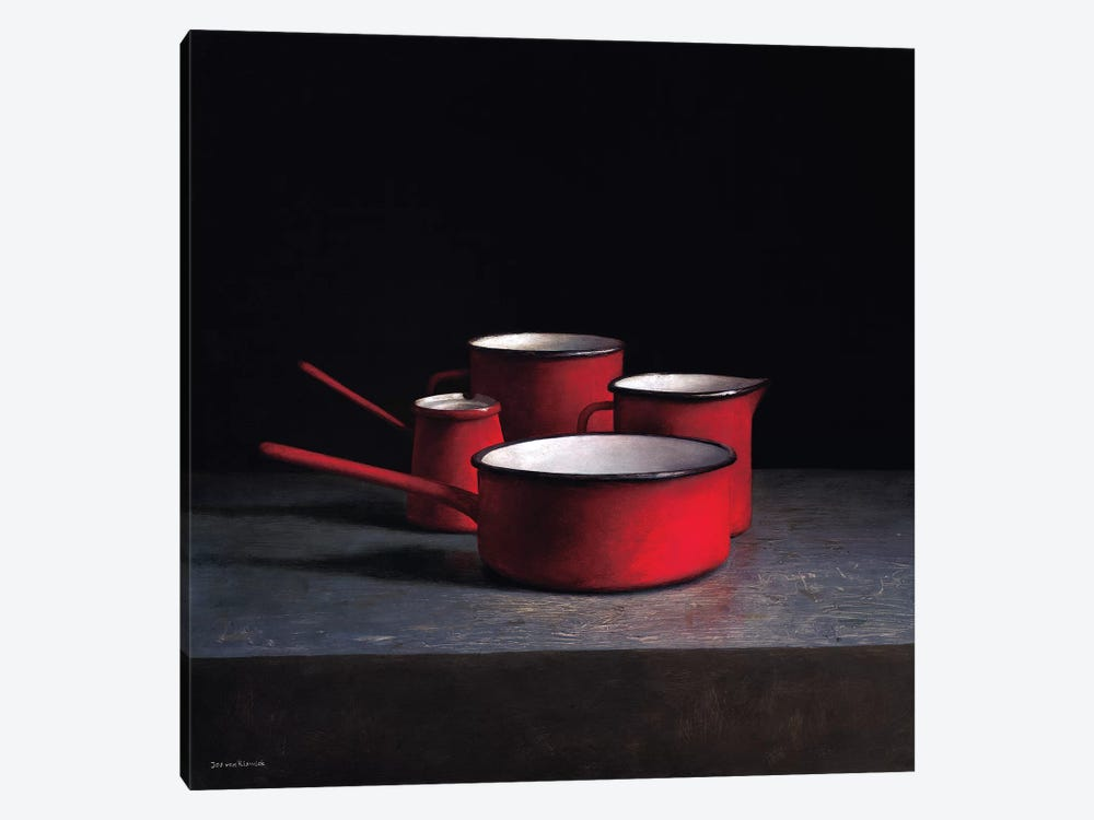 Pots And Pans I by Jos van Riswick 1-piece Canvas Artwork