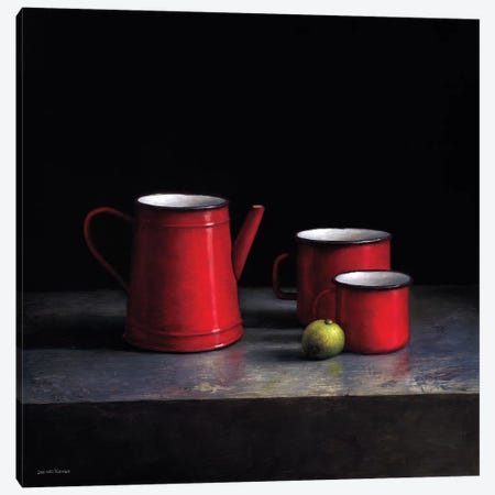 Pots And Pans II Canvas Print #JVR6} by Jos van Riswick Art Print
