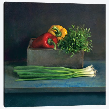Still Life With Paprika Canvas Print #JVR7} by Jos van Riswick Canvas Art Print