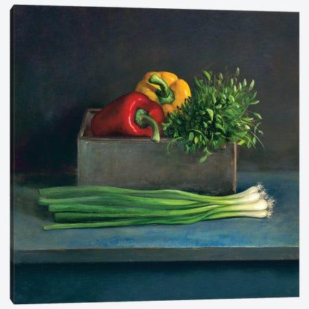 Still Life With Paprika Canvas Print #JVR7} by Jos van Riswick Canvas Art Print