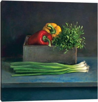 Still Life With Paprika Canvas Art Print