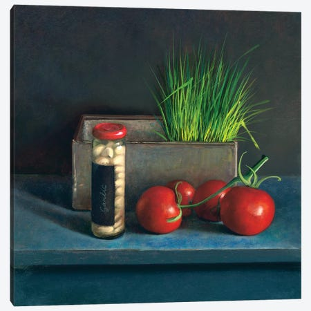 Still Life With Tomato Canvas Print #JVR8} by Jos van Riswick Canvas Art