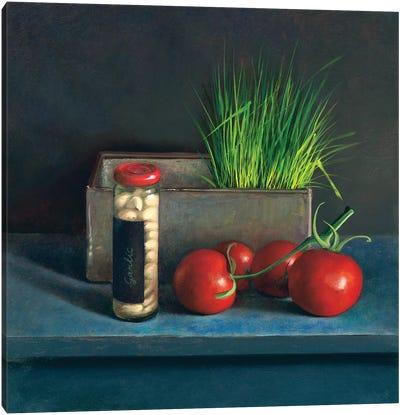 Still Life With Tomato Canvas Art Print