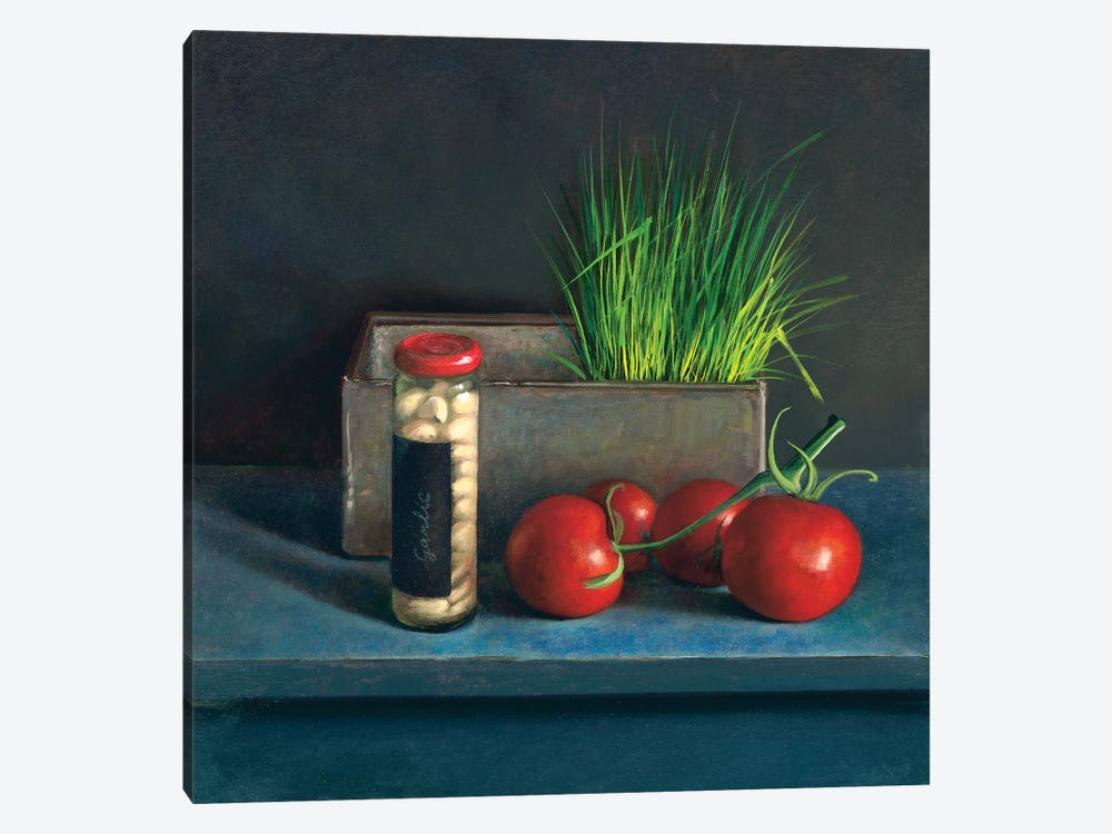 Still Life With Tomato by Jos van Riswick 1-piece Art Print