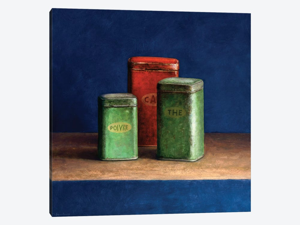 Tin Boxes I by Jos van Riswick 1-piece Canvas Wall Art