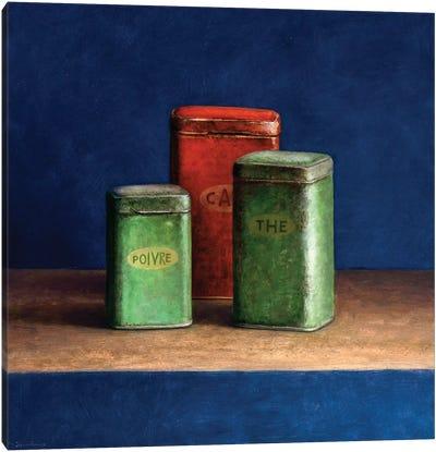 Tin Boxes I Canvas Art Print