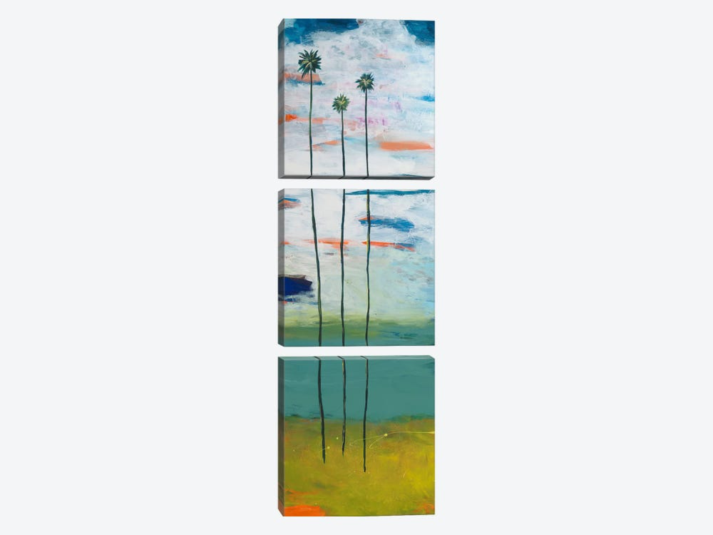 Desert Palms by Jan Weiss 3-piece Canvas Wall Art
