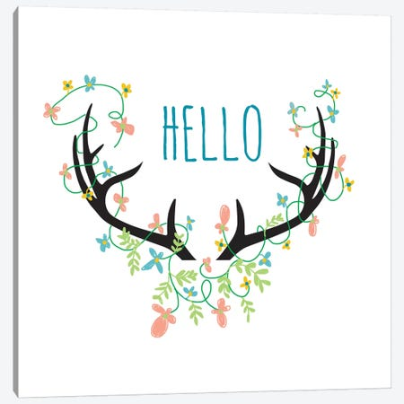 Hello Canvas Print #JWE15} by Jan Weiss Canvas Art Print
