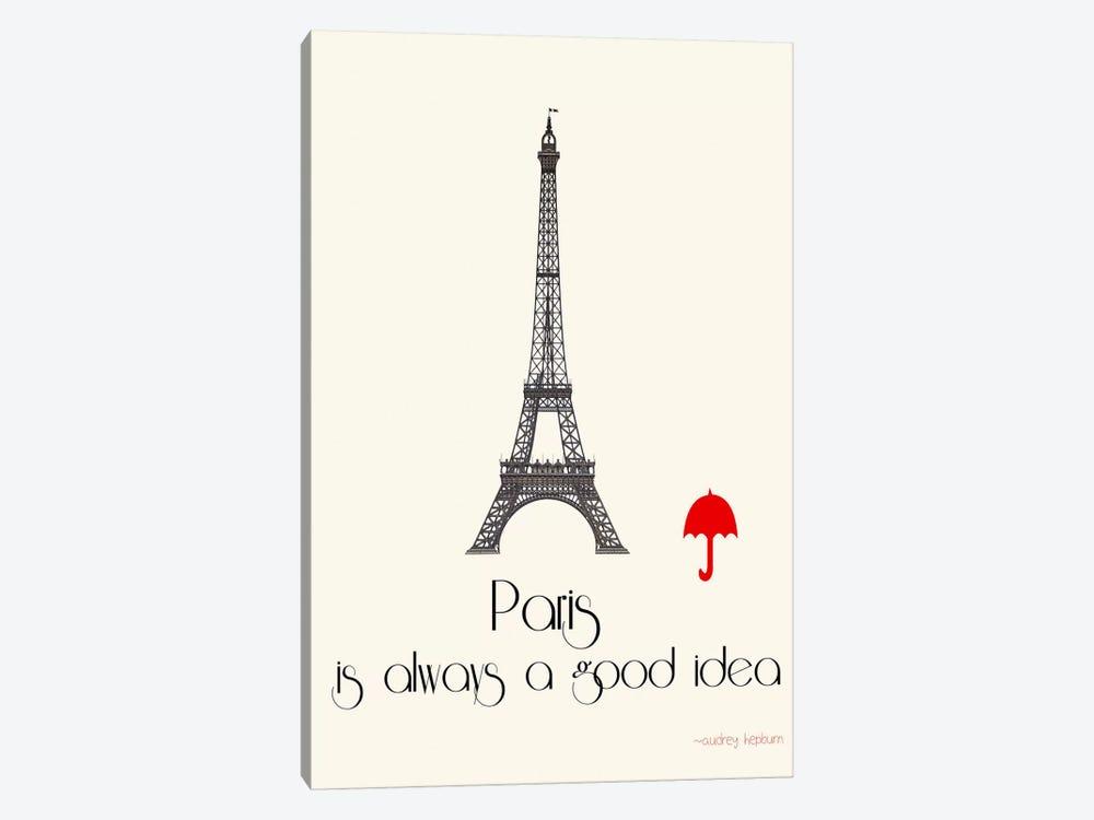 Paris by Jan Weiss 1-piece Canvas Art