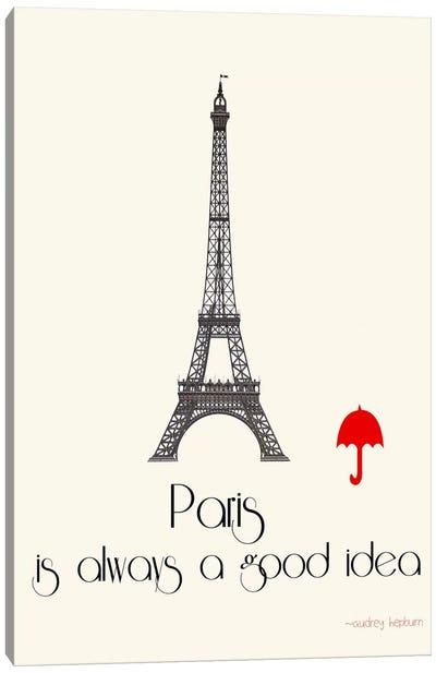 Paris Canvas Print #JWE25