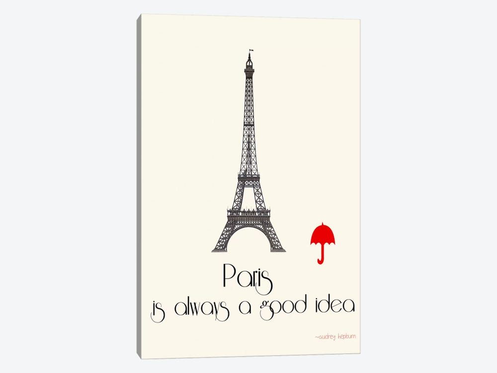 Paris by Jan Weiss 1-piece Canvas Art