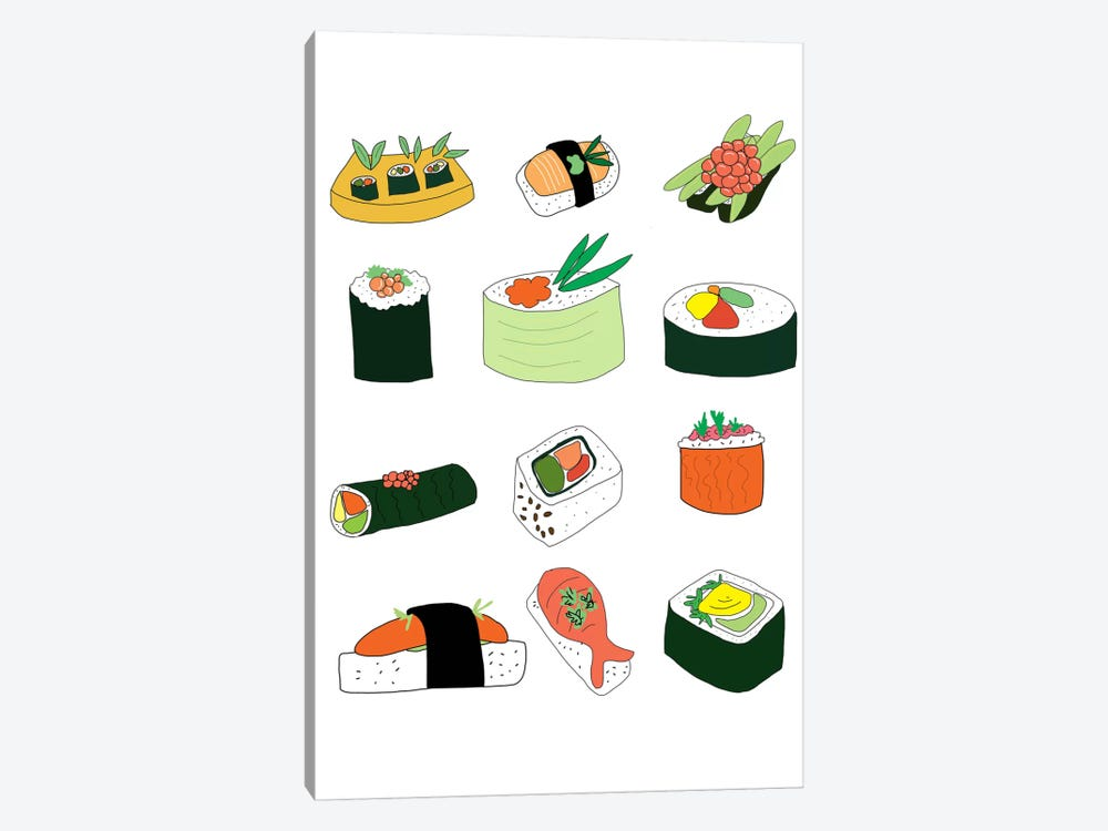Sushi Set by Jan Weiss 1-piece Canvas Print