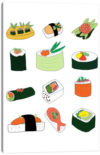 Sushi Set Canvas Art Print
