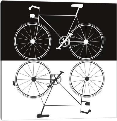 Two Bikes Canvas Art Print