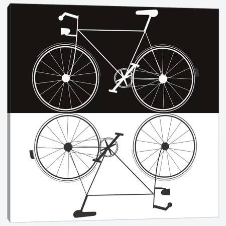 Two Bikes Canvas Print #JWE37} by Jan Weiss Canvas Art Print