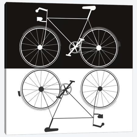 Two Bikes Canvas Print #JWE37} by Jan Weiss Canvas Art Print