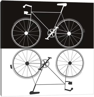 Two Bikes Canvas Art Print