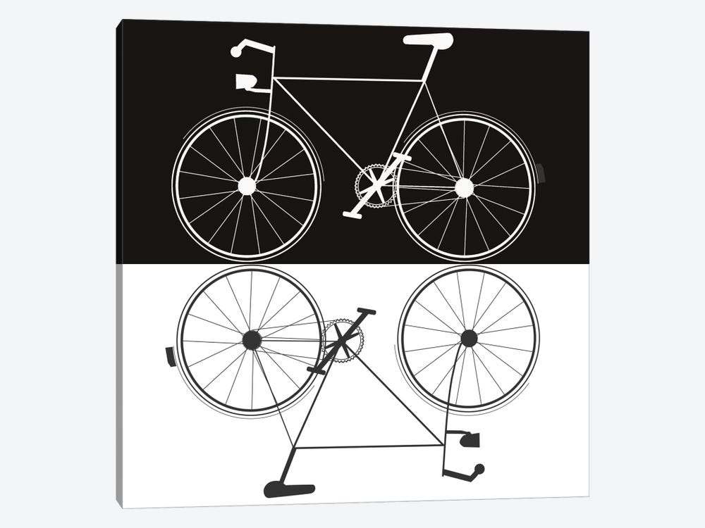 Two Bikes by Jan Weiss 1-piece Canvas Art Print