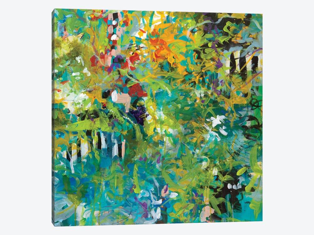 Garden Gate by Jan Weiss 1-piece Canvas Art Print